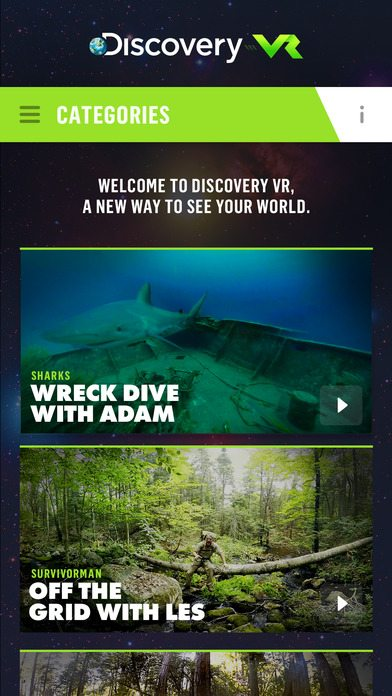 Discovery VR Educational App